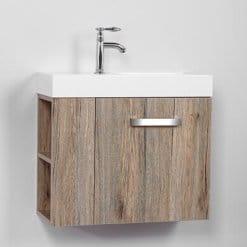 ארון אמבטיה עומק 25 סמ רוחב 60 סמ תלוי - דגם ונציה אגוז