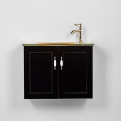 ארון אמבטיה עומק 40 סמ רוחב 60 סמ תלוי פרובנס שחור